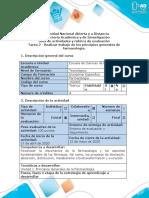 Guía de actividades y rúbrica de evaluación - Tarea 2 - Realizar trabajo de los principios generales de farmacología. .docx