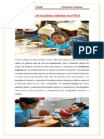 Atención de la primera infancia en el Perú