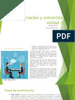 Observación y entrevista unidad 3 Johana Torres
