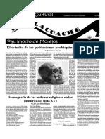 Suplemento Cultural EL TLACUACHE, DOMINGO 5 DE AGOSTO DE 2001
