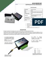 Datasheet reproductor de mensajes AE09