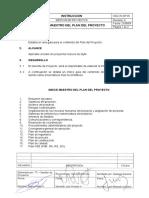 SGC IN GP 05 Indice Maestro del Plan del Proyecto Rev 0