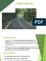 2. Geometric Design of Highways