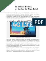 Internet 4G LTE en Bolivia viva tigo entel.docx