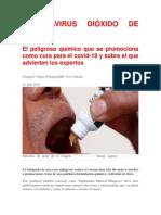 CORONAVIRUS DIÓXIDO DE CLORO