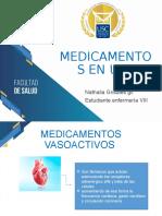 medicamentos en UCI