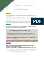 EL PROCESO METODOLOGICO DE LA INVESTIGACION CIENTIFICA