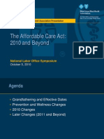 BCBS the Affordable Care Act 2010 and Beyond