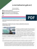PROCESO SIMPLIFICADO PARA IMPORTACIÓN DE MASCARILLAS – Servicio Ecuatoriano de Normalización INEN.pdf