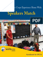 Peace Corps Worldwise Schools Speakers Match Handbook