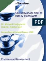 Clinical Management Kidney Transplantation