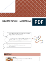 Caracteristicas de Las Proteinas.