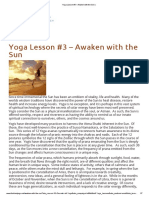 Yoga Lesson #3 – Awaken with the Sun _