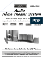 Durabrand HT395 Home Theater User Manual