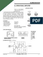 NJM4558M NJR Amplificadores operacionales