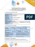 Guía de actividades y rúbrica de evaluación - Paso 5- Creando posibilidades