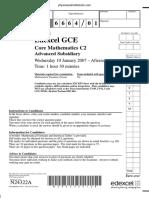 January 2007 QP - C2 Edexcel