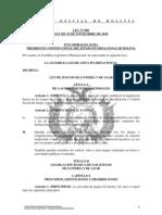 Ley 060 De Juegos de Lotería y de Azar