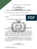 L062 Del Presupuesto General del Estado - Gestión 2011
