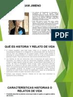 HISTORIAS Y RELATOS DE VIDA