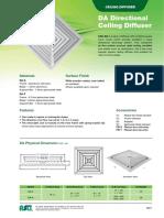DA Directional ceiling diffuser