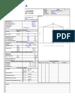 Condensate Water Tank Data sheet (1000 m3)