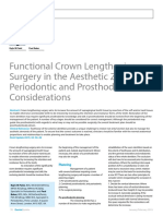 Functional Crown Lengthening Surgical Planning
