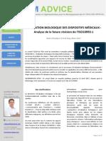 2017-03 BioM ADVICE - Note d'analyse - Future ISO10993-1 (Evaluation bio des DM) (1)