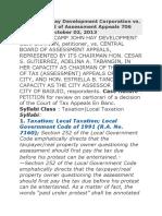 Camp John Hay Development Corporation vs. Central Board of Assessment Appeals 706 SCRA 547 , October 02, 2013