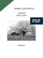 Emanuele Locatelli Energia poesie 2006 -2007