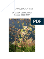 Emanuele Locatelli La Casa dei Ricordi Racconto Poesie 2008-2009