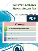 Investor's Approach on Income Tax
