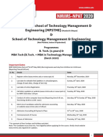 B.Tech-MBA Tech Admission Hand Out Revised 17-Mar-2020
