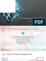 3D Center Knowledge Zone - Quick Start Guide