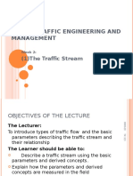 Lecture 3 The Traffic Stream