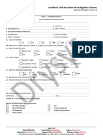 11.3 Incident and Accident Investigation Forms