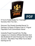 Affiliate Marketing Commission Fire