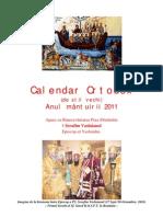 Calendar Ortodox de Stil Vechi - 2011(2)