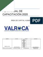 PLAN ANUAL DE CAPACITACIÓN 2020