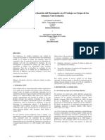 Una Propuesta de Evaluación Del Desempeño en El Trabajo en Grupo de Los Alumnos Universitarios