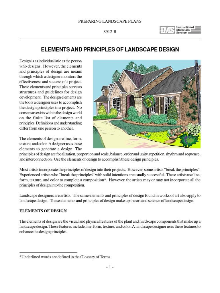 Book On Landscape Design Shape Color