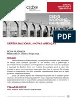 CEDIS-working-paper_DSD_defesa-nacional_novas-ameaças