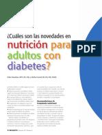 Cuáles son las novedades en nutrición para adultos con diabetes