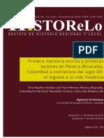 Primera memoria escrita Pereira-Rigoberto Gil Montoya