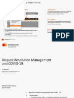 Mastercard academy 31.03.20 - Covid - Chargeback 2020 version