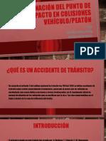 Determinación del punto de impacto en colisiones vehículo