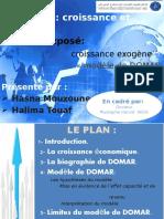 Modéle de Domar_Croissance Et Emploi (S6 Economie)