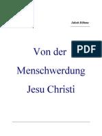 Von Der Menschwerdung Jesu Christi