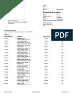 indice de partes