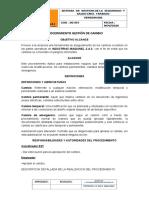 PROCEDIMIENTO GESTION DEL CAMBIO
